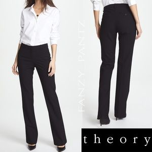 Theory trousers black 4 stretch blend pants